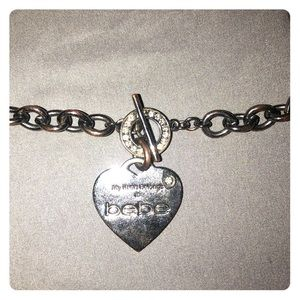 Bebe chain necklace with heart